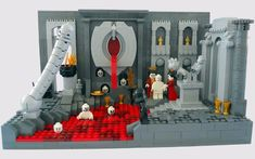 Dante's Inferno created by Legos - II. LUST Surrounded by erotic representations, those overcome by lust are forced to watch and experience disgusting things, ultimately being condemned to drown in the menstrual river.