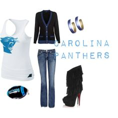 Carolina Panthers, created by fashionbebe81 on Polyvore