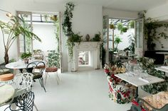 B&h buildings #london #restaurant #white #plants