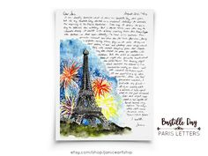 Bastille Day, Paris Letters, July, A letter about the dazzling fireworks on France's national holida France National, Fun Mail, Bastille Day, Dutch Recipes, National Holidays, Literary Quotes, Harry Potter Art, Lunar Chronicles, Paris