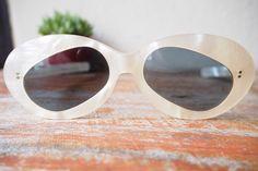 Vintage Sunglasses Rare Panda Shaped Lens by hisandhervintage