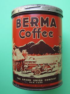 Berma Coffee, 1930's, my collection