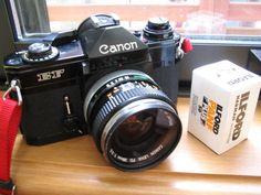 My Canon EF & FD28mm f3.5 Canon 35mm, Canon Ef, Old Cameras, Vintage Cameras, Camera Hacks, Binoculars, Digital Camera, Product Design, Photography