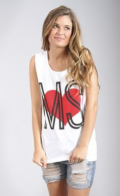 charlie southern: retro heart tank - Mississippi