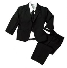 Spring Notion Baby Boys Formal Black Dress White Long Sleeve Fit Suit Set for sale online Baby Boys, Baby Boy Suit, Baby Pants, Toddler Boys, Black Suit Dress, Black Suits, Dress Suits, Stylish Baby Clothes, Blazer For Boys