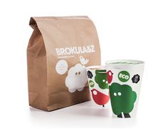 "Designed by Bruketa OM  ""Brokula&Ž (Broccoli) is a clothingbrand made from organically grown materials. The packaging is designed as a cup that you can use for something else after unpacking your purchase."