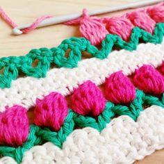 Punto Tulipanes a Crochet