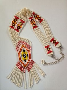 Beautiful Beaded Native American Necklace . . Matching by Tessey2, $45.00