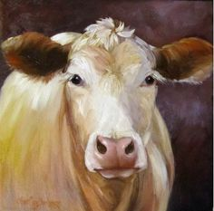 LOVE this Etsy seller's work (ChatterBoxArt)!  One day I will have a home filled with her art.  This is one BEAUTIFUL cow.