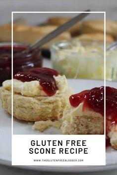 Super easy gluten free scones recipe - The Gluten Free Blogger Jam Recipes, Baking Recipes, Dessert Recipes, Picnic Recipes, Baking Tips, Dessert Ideas, Desserts, Gluten Free Cooking, Gluten Free Recipes