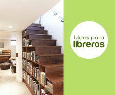 Ahorra espacio en tu hogar, mira esta perfecta idea para ordenar tus libros.