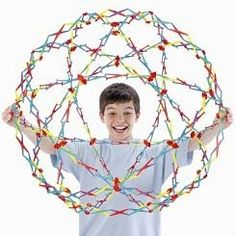 """The Hoberman Sphere expands from 9"""" to 30"""" across!"""