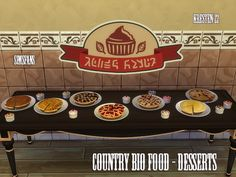 Food: Country bio food - Desserts by Kresten 22 from Sims Fans • Sims 4 Downloads