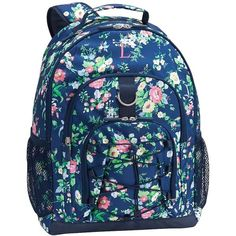 9ed65c9d32b6a PB Teen Gear-Up Navy Ditsy Floral Backpack ( 50) ❤ liked on Polyvore