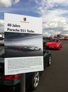 The red rocket enjoying the 'Turbo at 40' celebrations at the Nurburgring Germany. Aug 14 . Hospitality courtesy of Porsche Germany .