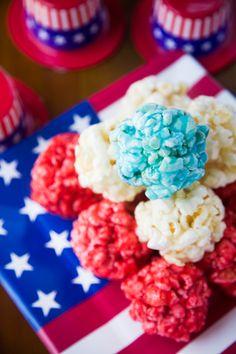 Fun patriotic popcorn balls!