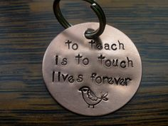 End of the Year Teacher's Gift Hand Stamped by younameitjewelry, $15.00