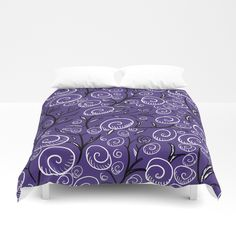UltraVioletFlowers Duvet Cover