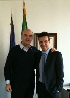 Marco Eugenio Di Giandomenico e Giuseppe Perrone (Console Generale per l'Italia a Los Angeles) (Los Angeles, Dicembre 2011)