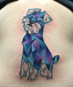 I had so much fun tattooing this geo-schnauzer today!! Thanks...
