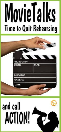 Movie Talk - Time to Quit Rehearsing and Call Action! Bilingual Classroom, Bilingual Education, Spanish Classroom, Spanish Lesson Plans, Spanish Lessons, Spanish 1, Spanish Teacher, Teaching Spanish, Teacher Blogs