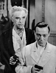 """Boris Karloff and Peter Lorre """"You'll Find Out""""1940 with Kay Kyser"""