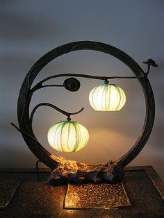 Custom Hanji Round Lamp. $139.50, via Etsy.