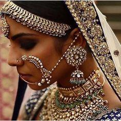 Heritage Jewels by #KishandasForSabyasachi. #Sabyasachi #Polki #Bridal #Bride #BridalJewellery #Mathapatti #Nath @sabyasachiofficial