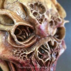 Dummie de espuma de poliuretano. #Sculpey #Monster #CesarPerlop #HumansAndMonsters #creepy #sculpture #dummie