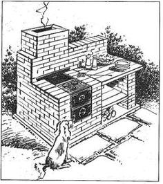 R-ASKS111 - Brick Barbecue Vintage Woodworking Plan.