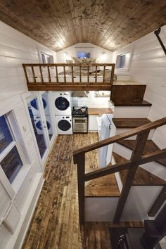 Rustic Loft -- A luxury 273 square feet tiny house on wheels built by Mint Tiny Homes in British Columbia, Canada. | pinned by haw-creek.com #luxuryrustichomes