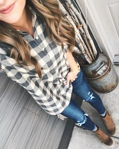 Hope everyone had a very Christmas with their families!  Cant believe its already over but grateful for all the good times that were had this weekend.  Changed into my casual duds after church - this flannel shirt has the cutest button back detail!   Shop my posts at http://ift.tt/2kde9gI or by following me on the @liketoknow.it app. http://liketk.it/2u0xd #liketkit