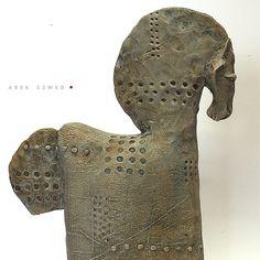 Horse nr 19/ Ceramic Sculpture/ Unique Ceramic by arekszwed