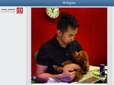 Our boss and his baby, Cooper! Follow us on instagram to see more of our office culture.
