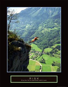 RISK Base Jumping Motivational Poster Available At Sportsposterwarehouse