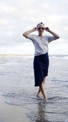 Dorthe Elbow Length Grey T-shirt — Kepaza Colorful Fashion, Fashion Brand, Tees, Skirts, Model, Sleeves, T Shirt, How To Wear, Cotton