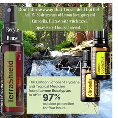 Lemon Eucalyptus, Recyle, Citronella, Medicine, Pure Products, Bottle, Outdoor, Outdoors, Recycling