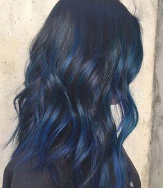 Icy Blue Hair, Blue Hair Black Girl, Silver Blue Hair, Electric Blue Hair, Midnight Blue Hair, Bright Blue Hair, Royal Blue Hair, Hair Color For Black Hair, Blue Hair Streaks
