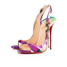 0f6cb7779c Christian Louboutin Allenissima 2015 Floral Sandals. Get the must-have  sandals of this season. Tradesy