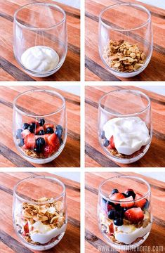 Recipes Breakfast Wake up to a delicious Yogurt . Recipes Breakfast Wake up to a delicious Yogurt Parfait! Make a healthy Yogurt Parfait at home with this easy recipe. This breakfast Yogurt Parfait is made with simple ingredients: Greek yogurt, fre Breakfast For A Crowd, Healthy Breakfast Recipes, Easy Healthy Recipes, Breakfast Parfait, Easy Meals, Brunch Recipes, Blueberry Breakfast, Greek Yogurt Recipes Breakfast, Mason Jar Breakfast