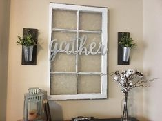 Metal Gather Sign Gallery Wall Decor Gather Home Decor Farmhouse Wall Decor Gather Signs Galvanized Metal Home Accents Oturma Odası Easy Home Decor, Cheap Home Decor, My Living Room, Living Room Decor, Dining Room, Decorating A Large Wall In Living Room, Dinning Room Wall Decor, Small Living, Décor Antique