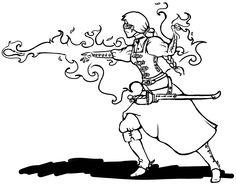 fire bolt, fire ball female caster, fantasy magic watkanjewel.com