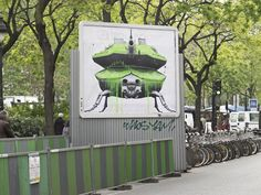 Weaponized Nature Street Art by Ludo