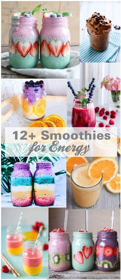 Smoothie recipes fruit chia seed layered kale green raw alkaline