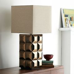 Lubna Chowdhary Tiled Table Lamp - Bronze #westelm