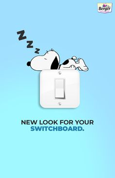 Design your switch board space with different cartoon characters matching with your wall colour.