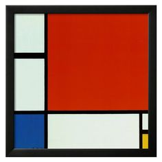 Composition With Red, Blue, & Yellow by Piet Mondrian