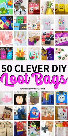 Thank your guests wi Thank your guests with personalized DIY party favor gift bags. Super cute and easy to make these loot bags are a perfect way to wrap up your birthday bash! Diy Birthday Party Favors, Birthday Party Games For Kids, Birthday Gift Bags, Party Gift Bags, Diy Party, Party Ideas, Birthday Ideas, Toddler Party Favors, Party Themes