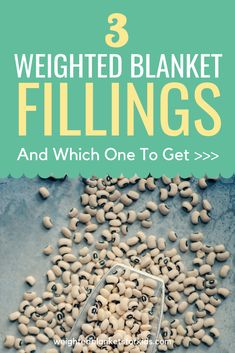 Curious about the fillings in weighted blankets? From plastic poly pellets to glass beads, check out the 3 main types of weighted blanket fillings here. Weighted Blanket Tutorial, Making A Weighted Blanket, Weighted Blanket For Adults, Weighted Vest, Plastic Pellets, Lap Blanket, Sewing Hacks, Sewing Tips, Sewing Tutorials