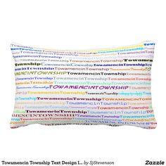 Towamencin Township Text Design II Lumbar Pillow
